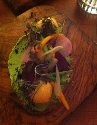 Gorgeous colours and textures that tasted sublime, the most popular starter of the night!